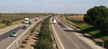 La A-49 entre Huelva y Sevilla completa el eje principal longitudinal de la A-92