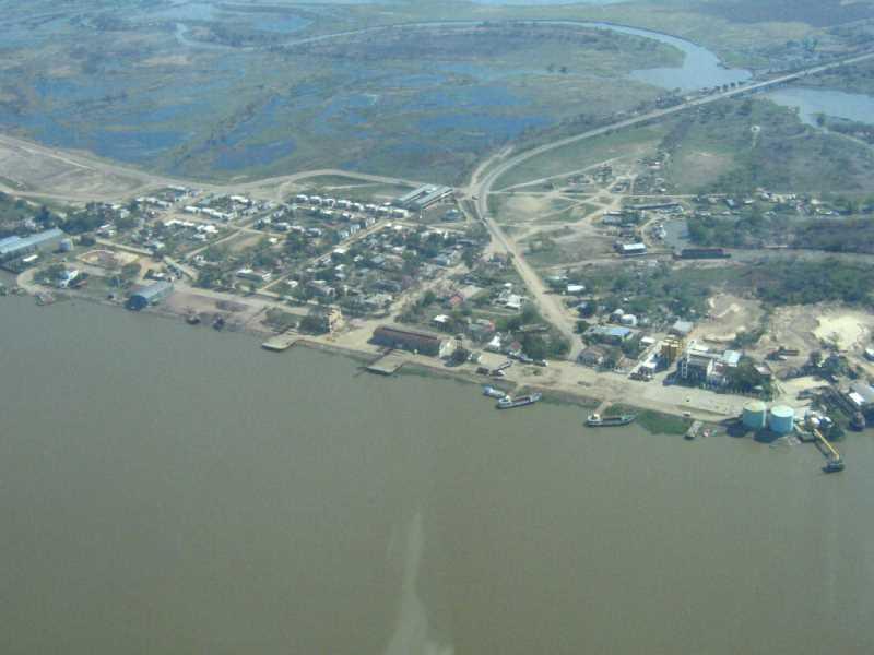 Puerto fluvial de Reconquista. FUENTE: Google Earth
