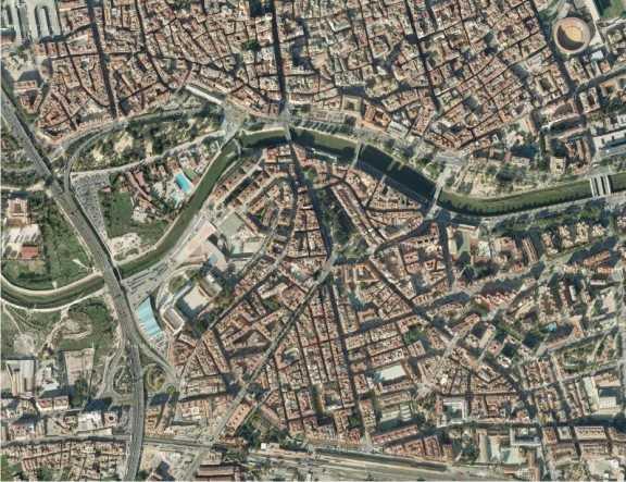 Imagen aérea de la ciudad de Murcia