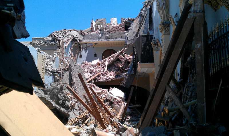 Convento de las Clarisas tras el terremoto