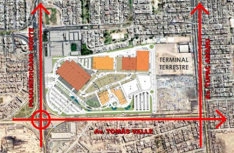 Plano de situación del Centro Comercial Plaza Norte