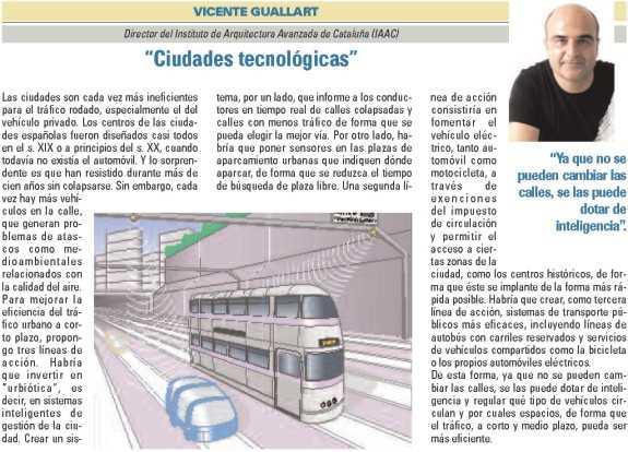 """Vicente Guallart, """"Ciudades tecnológicas"""". FUENTE: dgt.es"""