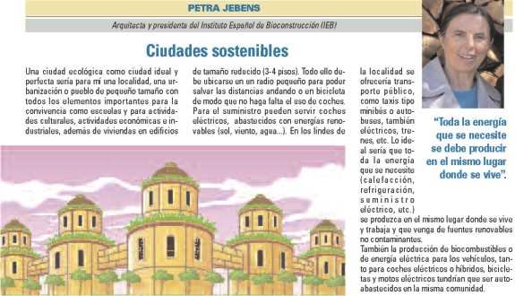 """Petra Jebens, """"Ciudades sostenibles"""". FUENTE: dgt.es"""