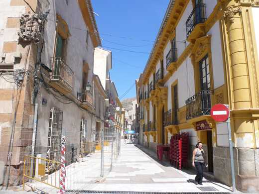 Calle del casco histórico de Lorca