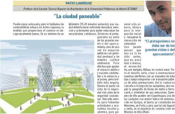 """Patxi Lamíquiz, """"La ciudad paseable"""". FUENTE: dgt.es"""