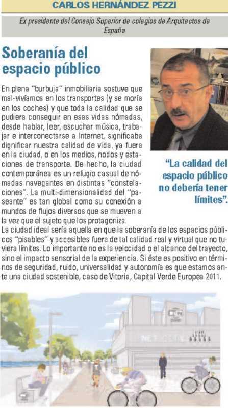 """Carlos Hernández Pezzi, """"Soberanía del espacio público"""". FUENTE: dgt.es"""