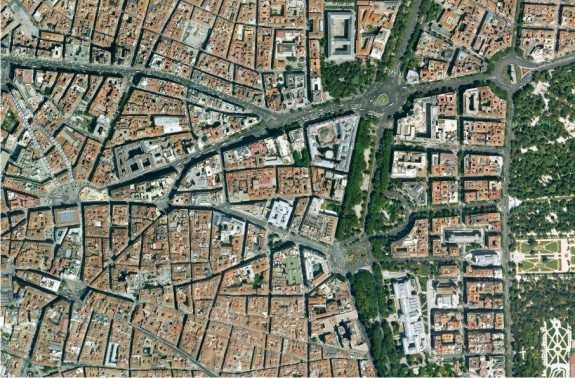 Centro urbano de Madrid. FUENTE: maps.google.es