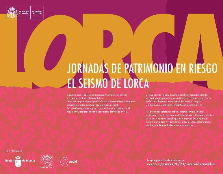 Cartel de las Jornadas en Lorca. FUENTE: mcu.es