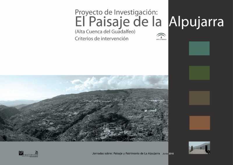 Portada del Proyecto de Investigacion sobre el Paisaje de la Alpujarra