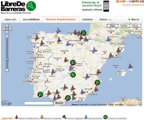 Captura de la web. FUENTE: libredebarreras.es