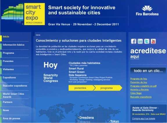 Captura de la web. FUENTE: smartcityexpo.com