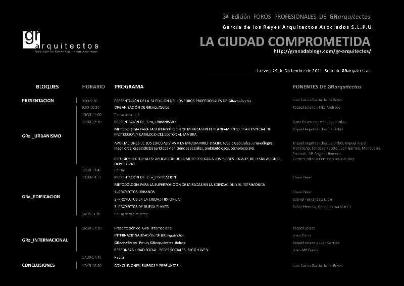 Pincha en la imagen para acceder al Programa la 3ª Edición de los Foros Profesionales (2011)