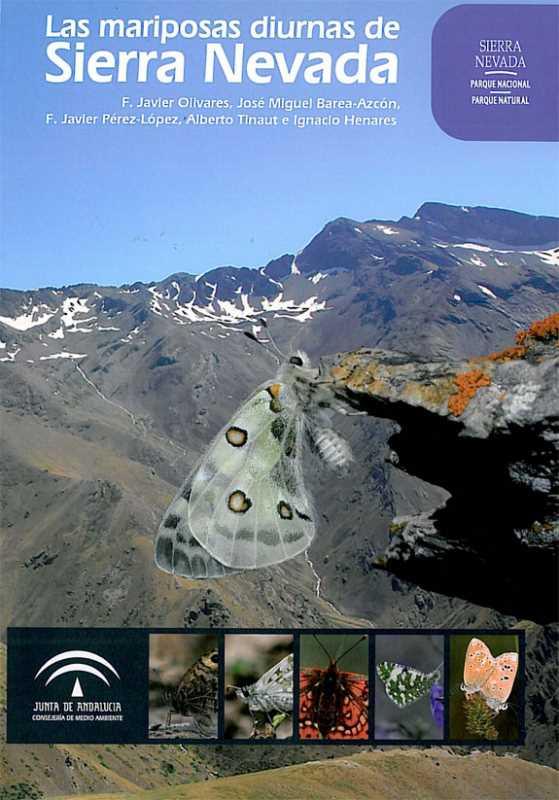 """Portada del libro: """"Las mariposas Diurnas de Sierra Nevada"""""""