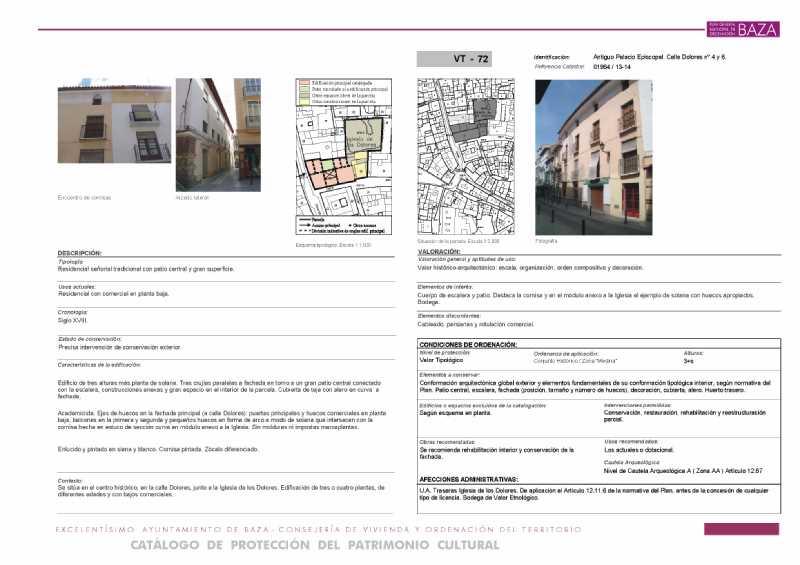 Ejemplo de Ficha de Catálogo de Protección del Patrimonio Cultural
