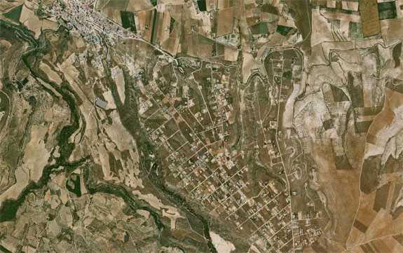 Asentemientos urbanisticos. FUENTE: maps.google.es