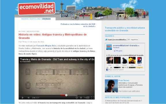 """Captura de la web """"ecomovilidad.net"""""""