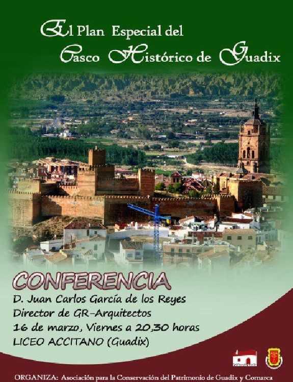 Cartel de la Conferencia. FUENTE: patrimonioguadix.22web.net