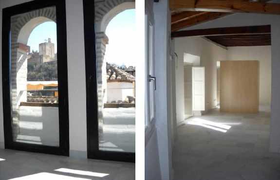 Interior rehabilitado de dos de las viviendas de las crujías de la casa cristiana del s. XVII