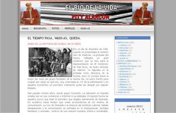 Captura de la web. FUENTE: pityalarcon.com