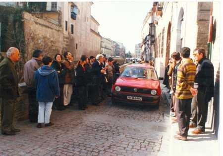 Imagen de la Carrera del Darro con los problemas de movilidad que han permanecido hasta la actualidad. FUENTE: otragranada.org