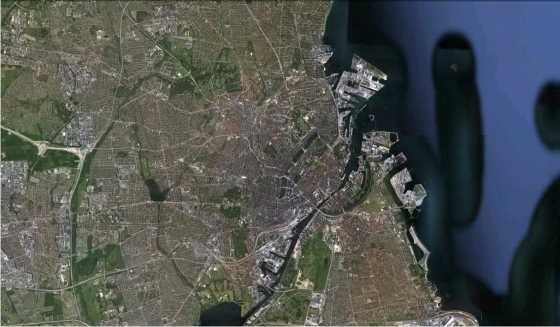 Copenhague. FUENTE: Google Earth.