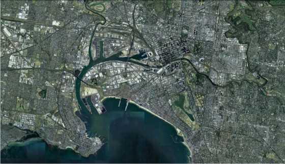 Imagen del centro de la ciudad. FUENTE: Google Earth