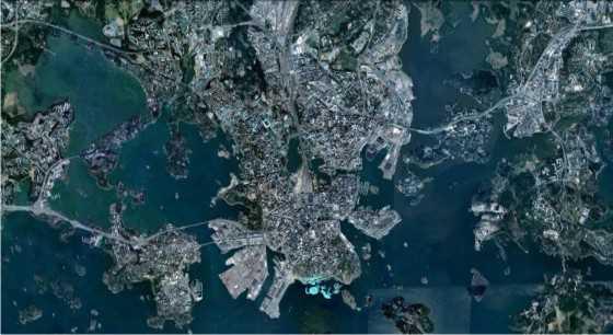 Helsinki. FUENTE: Google Earth