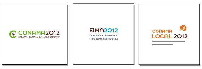 Logos CONAMA, EIMA Y CONAMALOCAL.  FUENTE: conama2012.conama.org