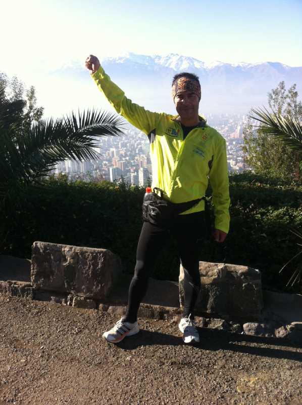Juan Carlos Garcia de Los Reyes en el Cerro de San Cristobal