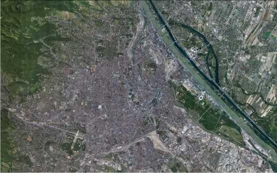 Viena en la actualidad. FUENTE:Google Earth