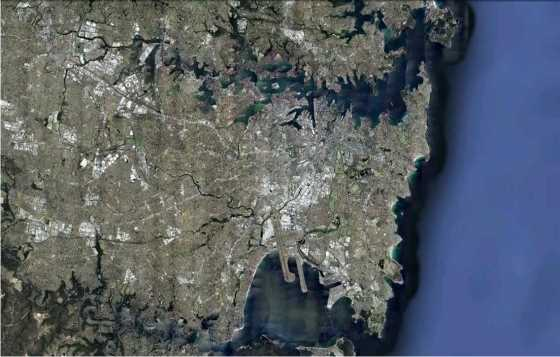 Area Metropolitana de Sidney. FUENTE: Google Earth