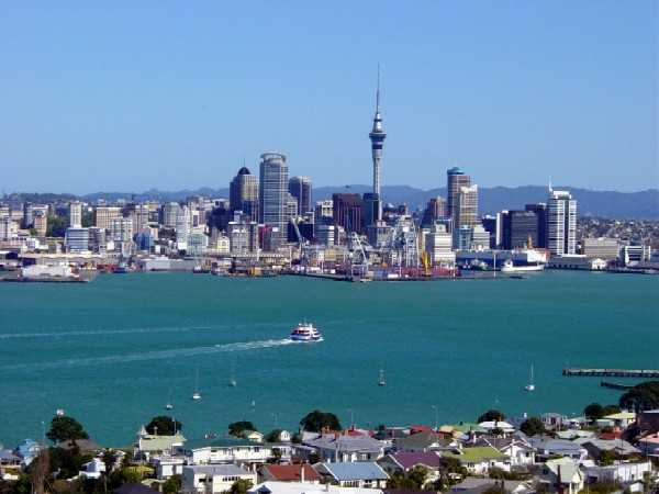 Centro de Auckland. FUENTE: soloennuevazelanda.com