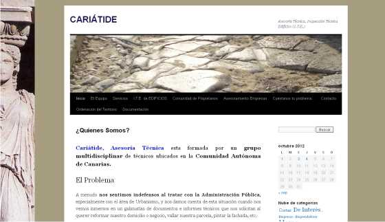 captura de la web. FUENTE: cariatideat.wordpress.com