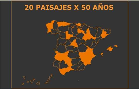 20 paisajes x 50 años. FUENTE: fomento.gob.es