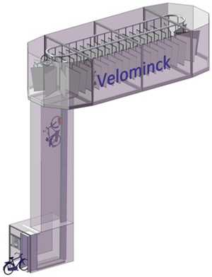 Almacén mecanizado de bicicletas con un ascensor. FUENTE: elpais.com