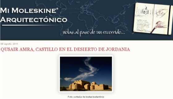 Captura del blog. FUENTE: moleskinearquitectonico.es