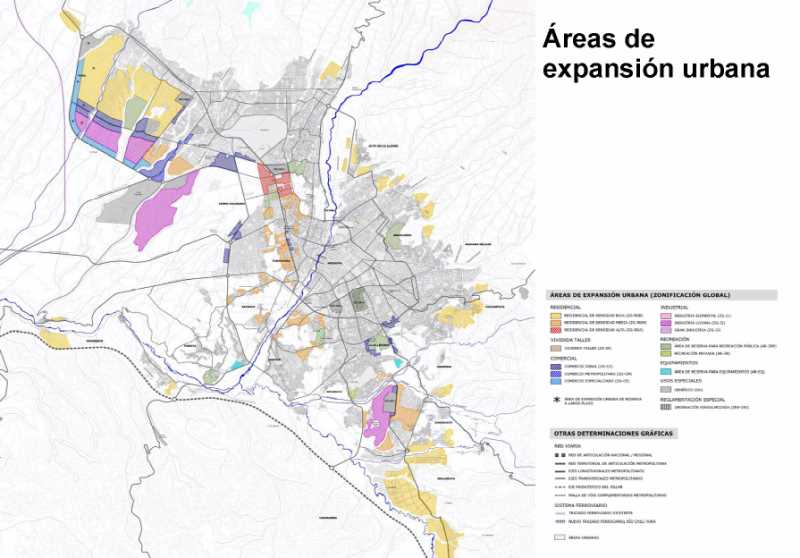 Areas expansion. FUENTE: PDM de Arequipa