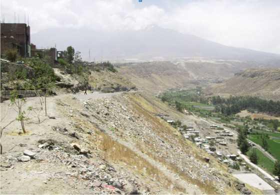 Vista de Cayma y el rio Chili. FUENTE: elaboracion propia