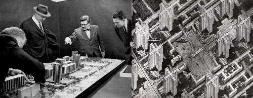Maqueta para una ciudad americana / Plan Voisin de París (Le Corbusier). FUENTE: laciudadviva.org