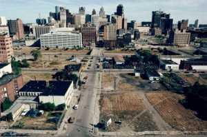 Centro de Detroit en 1991. FUENTE: elpais.com