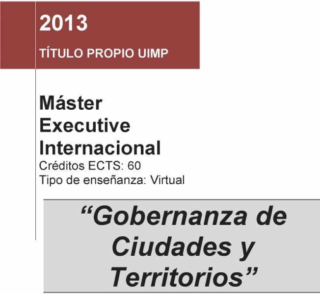 Portada del programa del curso. FUENTE: uimunicipalistas.org