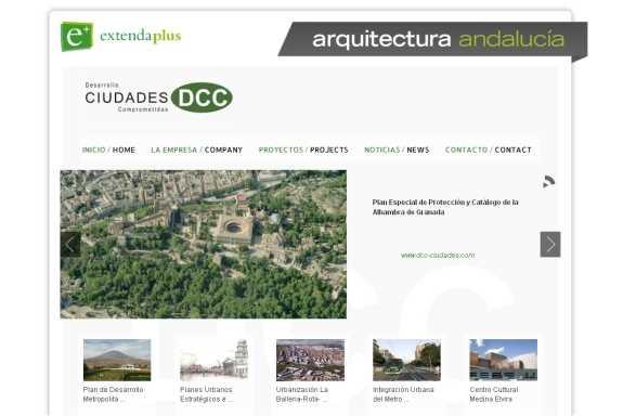 Capura de la web de DCC en Extenda Plus. FUENTE: extendaplus.es/desarrollodeciudadescomprometidas