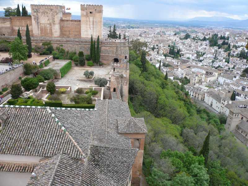 Vista de la Alcazaba. Fuente: Elaboración Propia.