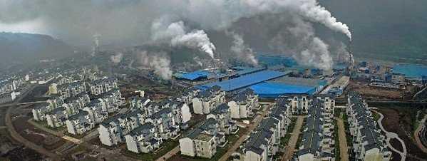 Ciudad de nueva cración junto a planta de residuos. Fuente: lavanguardia.com