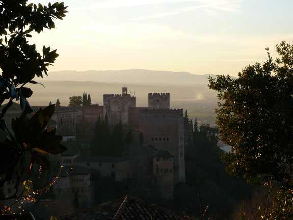 Vista de los Palacios Nazaries y la Alcazaba. Fuente: elaboración propia