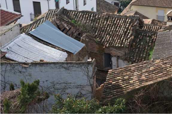 Estructura del tejado en principio. Fuente: Paco Pipó.