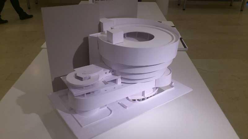 Maqueta del Museo Guggenheim de Nueva York. Fuente: Elaboración propia