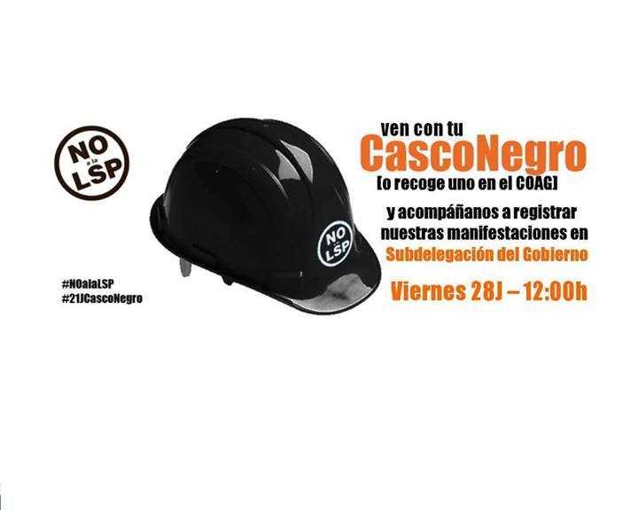 Cartel del COA Granada anunciando la inciativa del 28J