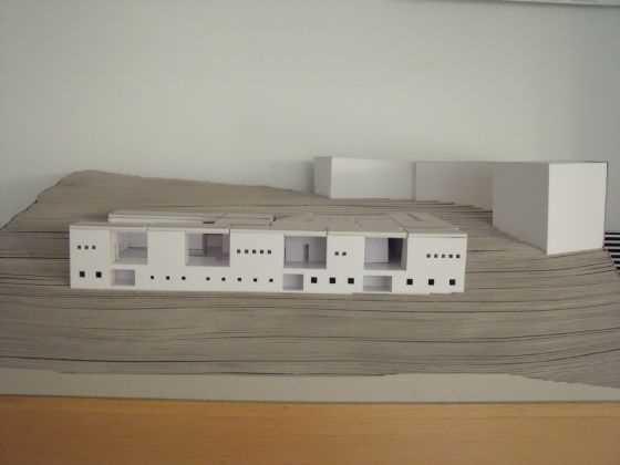 """Peter Zumthor. Termas de Vals. CH. 1996. Fuente: exposición """"Microarquitecturas: volúmenes en composición"""""""