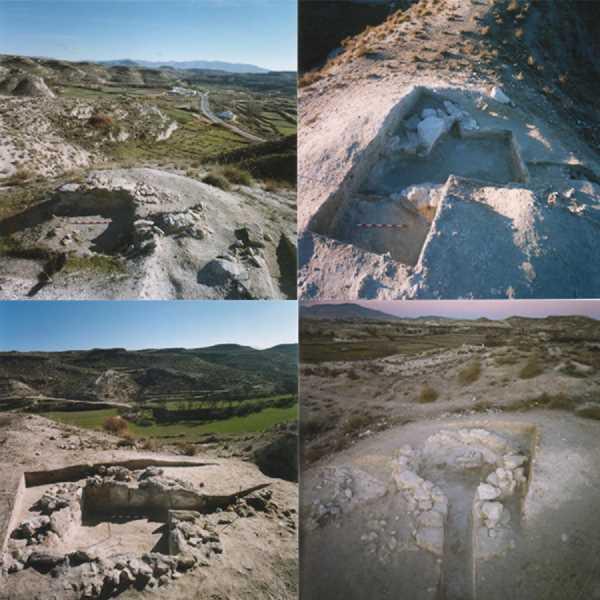 Yacimiento de la Necrópolis Iberica de Tútugi. Fuente: Elaboración propia.
